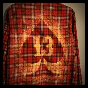 #13 spade flannel snap down